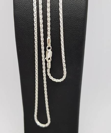 Sterling silver chain, 75cms
