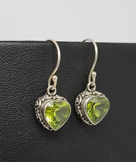 Silver Peridot Earrings!