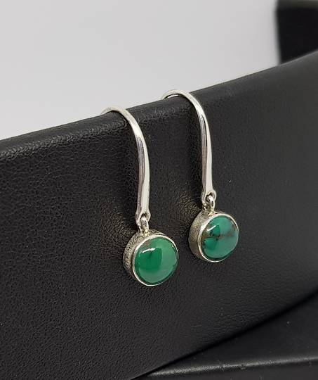 Sterling silver turquoise hook earrings