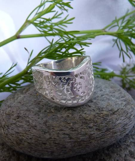 Silver filigree ring - made in NZ