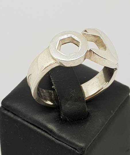 Men's sterling silver spanner ring , NZ made
