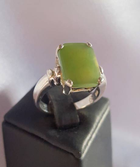 New Zealand greenstone (pounamu) ring