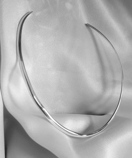 4mm solid sterling silver collar with $20 cashback offer