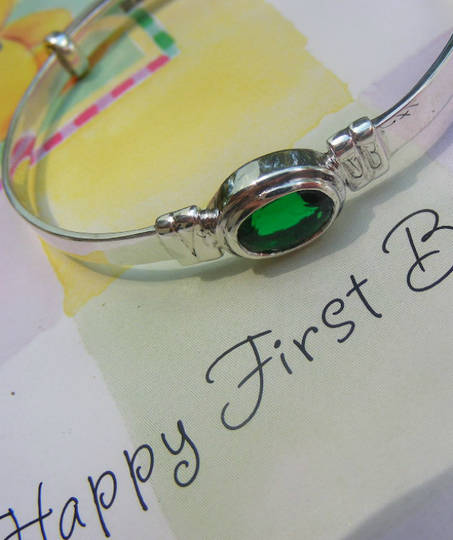 Happy Birthday Miss May | Baby birthstone bangle