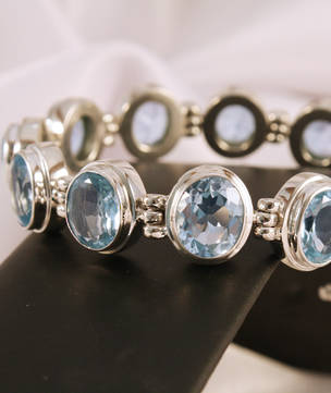 Natural Blue Topaz Bracelet