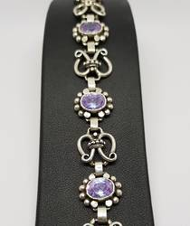 Sterling silver pale purple ladies bracelet