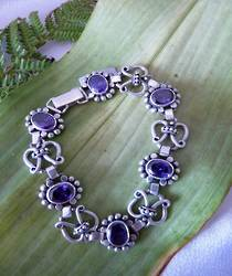 Silver Amethyst Bracelet - on sale NOW