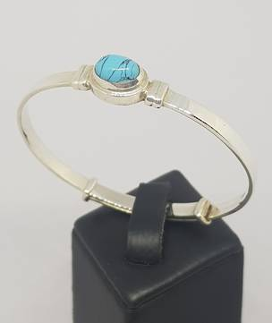 Turquoise Birthstone Baby Bangle for Miss December