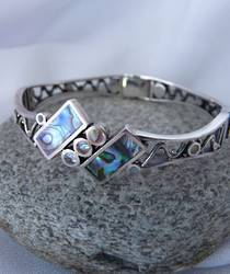 Silver paua bracelet - last in stock, great price