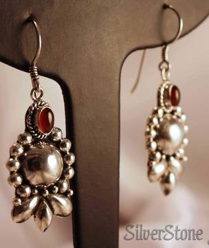 Sterling silver carnelian earrings