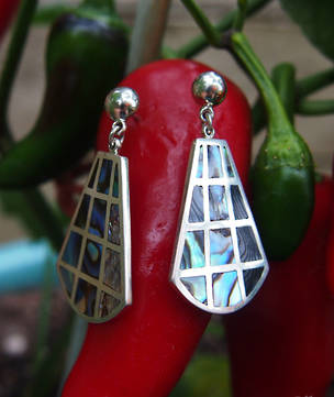 Paua shell earrings - stud style