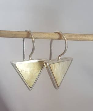 Triangle mother of pearl earrings
