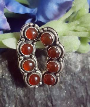 Unusual 4 stone carnelian earrings