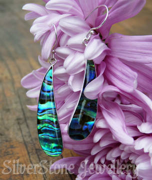 Silver Paua Shell Earrings