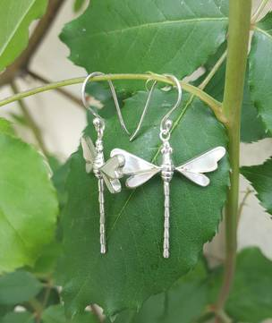 NZ mother of pearl dragonfly earrings