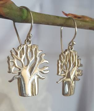 Sterling silver 925 tree of life earrings