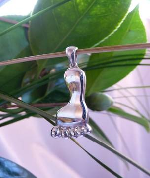 Solid Sterling Silver Foot Pendant
