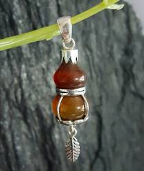 Unusual, striking silver carnelian pendant - now on sale