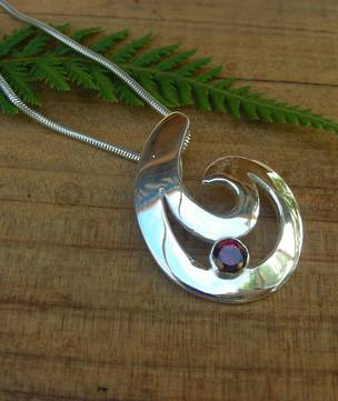 Made in New Zealand - Silver Fish Hook Pendant