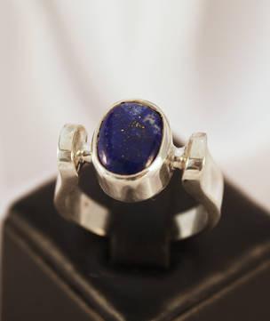 Lapis Lazuli Horseshoe Ring