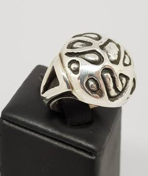 Chunky silver dress ring