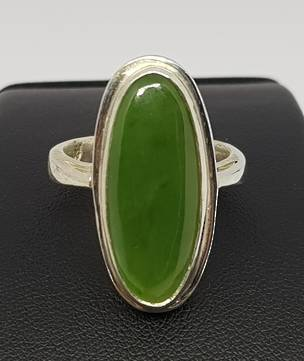 Ladies greenstone ring, made in NZ