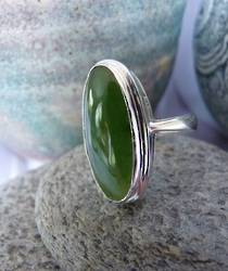 Ladies Greenstone ring - Made in NZ