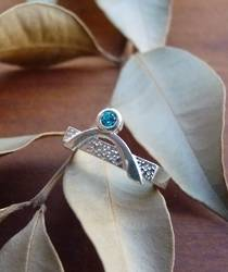 Blue topaz silver ring
