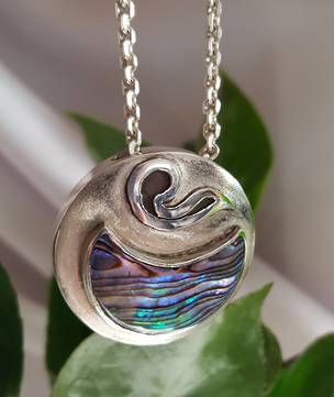 Paua shell silver necklace | Made in NZ