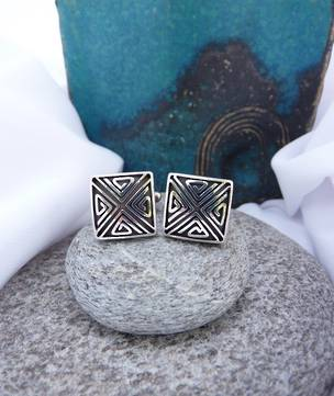 Sterling silver cufflinks - unique and masculine