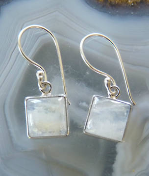 Silver Moonstone Earrings