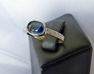 sapphire and diamond ring NZ