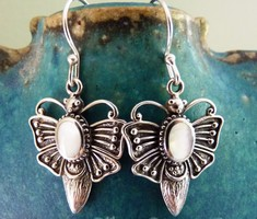 Silver butterfly earrings C