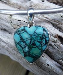 turquoise heart sterling silver SilverStone Jewellery