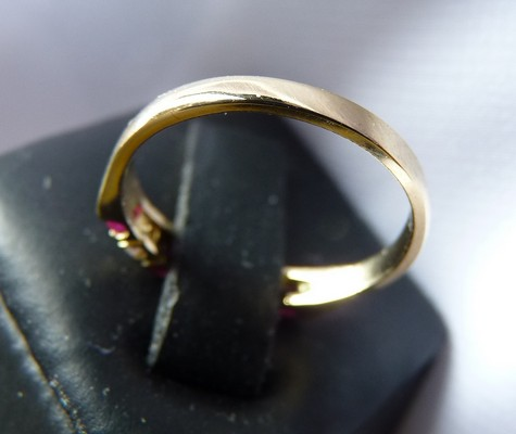 reshanked gold ring band