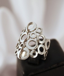 R079 silver statement ring