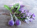 Purple mohave turquoise earrings 1