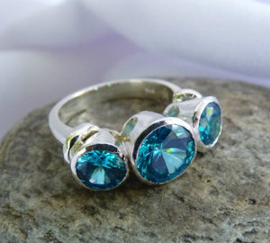blue topaz ring made in New Zealand