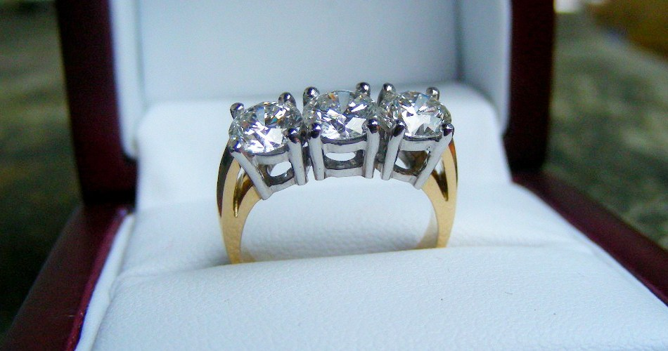 Three stone diamond ring SilverStone Jewellery
