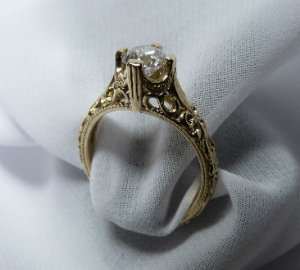 gold filigree ring custom made by SilverStone GOLD(copy)