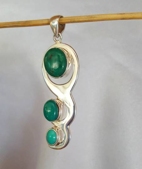Turquoise Silver Pendant - Full Of Life