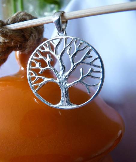 Sterling silver tree of life pendant - perfect for summer