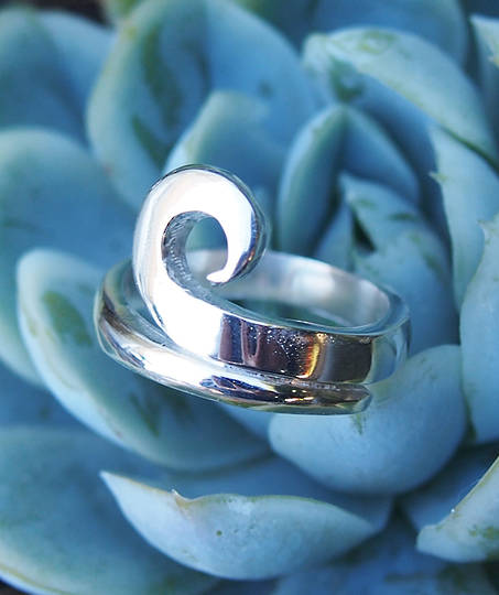 Sterling Silver Koru Ring Made In New Zealand