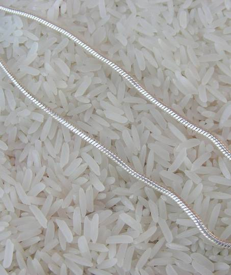 45cms sterling silver snake chain