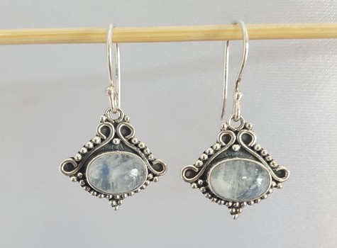 June birthstone earrings moonstones