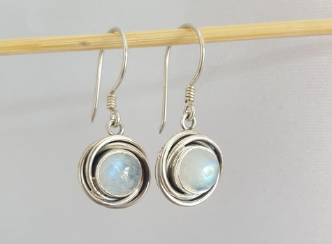 moonstone earrings silver