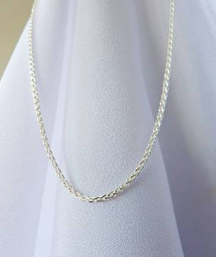 Sterling silver chain, 45cms
