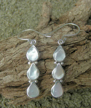 Mother of Pearl Earrings - free NZ delivery