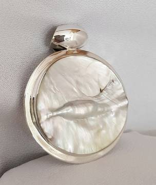 Mother of pearl silver pendant - on sale now