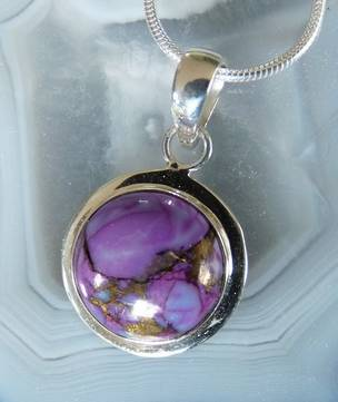 Purple mohave turquoise pendant